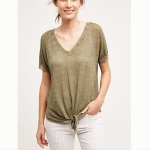 Cloth & Stone Top, SZ M, Green